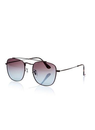 Optoline Opc 17010 03 Dikdörtgen Kahv  Gövde Füme Polarize Cam Erkek Güneş Gözlüğü Füme